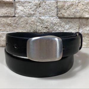 Structure Belt Leather Men's Black 32
